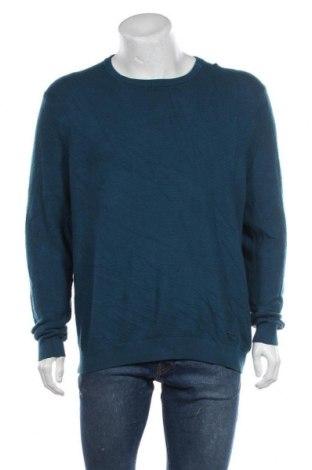 Мъжки пуловер Angelo Litrico, Размер XXL, Цвят Син, 55% вискоза, 50% полиамид, 5% кашмир, Цена 10,92лв.