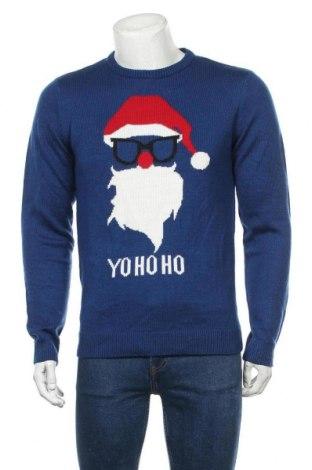 Мъжки пуловер Angelo Litrico, Размер M, Цвят Син, Акрил, Цена 27,30лв.