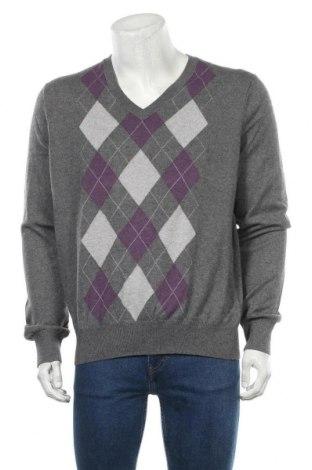 Мъжки пуловер Banana Republic, Размер L, Цвят Сив, 65% памук, 22% полиамид, 3% кашмир, Цена 40,16лв.