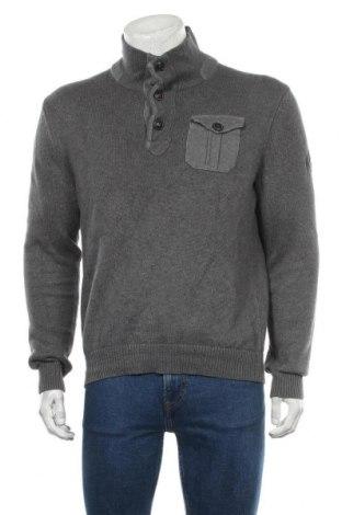 Мъжки пуловер Brax, Размер L, Цвят Сив, 100% памук, Цена 42,84лв.