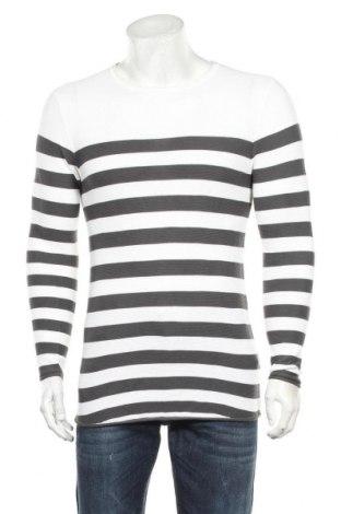 Мъжки пуловер Fsbn, Размер XS, Цвят Бял, 50% памук, 50% акрил, Цена 23,21лв.