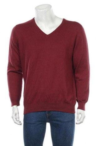 Мъжки пуловер Mo Casual, Размер L, Цвят Червен, 67% вискоза, 20% полиамид, 13% ангора, Цена 55,34лв.