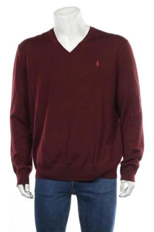 Pánský svetr  Polo By Ralph Lauren, Velikost XL, Barva Červená, Merino , Cena  2091,00Kč