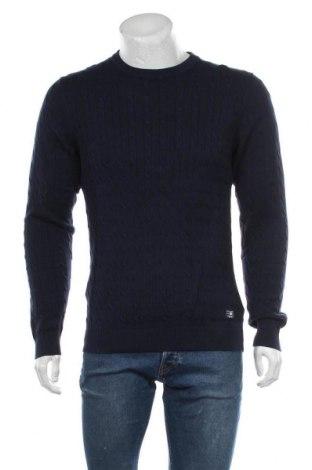 Ανδρικό πουλόβερ Premium By Jack & Jones, Μέγεθος L, Χρώμα Μπλέ, Βαμβάκι, Τιμή 14,23€