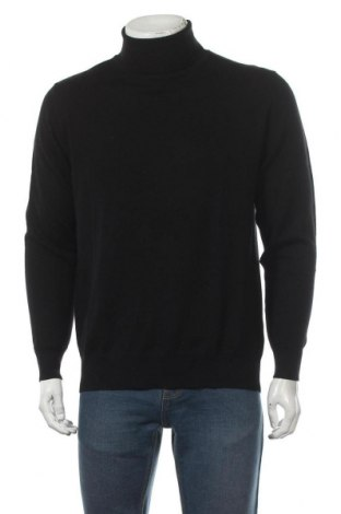 Мъжки пуловер Royal Class, Размер M, Цвят Черен, 51% мерино, 49% памук, Цена 27,67лв.