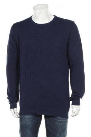 Мъжки пуловер Royal Class, Размер L, Цвят Син, Памук, Цена 43,73лв.