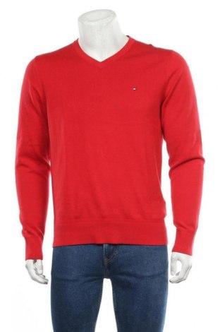 Pánský svetr  Tommy Hilfiger, Velikost M, Barva Červená, 89% bavlna, 11% hedvábí, Cena  1298,00Kč