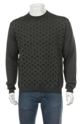 Pulover de bărbați Versace Jeans, Mărime XL, Culoare Verde, 50%acril, 50% lână, Preț 219,84 Lei