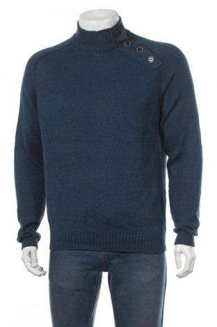 Мъжки пуловер Watson's, Размер M, Цвят Син, 50% памук, 50% полиакрил, Цена 33,92лв.