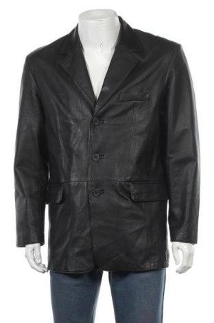 Мъжко кожено яке Angelo Litrico, Размер M, Цвят Черен, Естествена кожа, Цена 52,92лв.