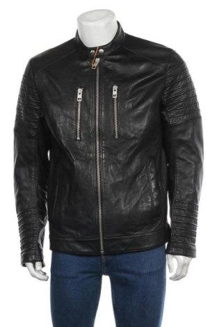 Pánská kožená bunda  Hugo Boss, Velikost L, Barva Černá, Pravá kůže, Cena  5333,00Kč