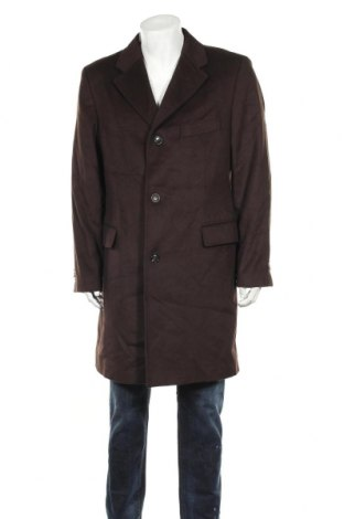 Мъжко палто, Размер L, Цвят Кафяв, 70% вълна, 20% полиамид, 10% кашмир, Цена 51,77лв.