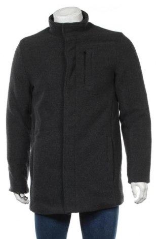 Мъжко палто Blend, Размер M, Цвят Сив, 70% полиестер, 30% вълна, Цена 100,17лв.