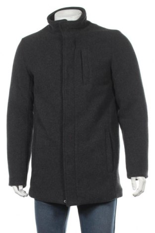 Мъжко палто Blend, Размер M, Цвят Сив, 70% полиестер, 30% вълна, Цена 65,19лв.