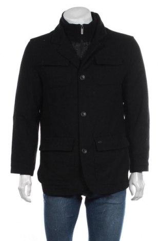 Мъжко палто Buffalo, Размер S, Цвят Черен, 52% вълна, 40% полиестер, 5% вискоза, 3% други нишки, Цена 30,24лв.