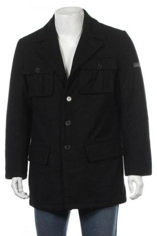 Мъжко палто Cavallo, Размер M, Цвят Черен, 60% вълна, 32% полиестер, 8% вискоза, Цена 60,69лв.