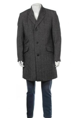 Мъжко палто Cool Water, Размер L, Цвят Черен, 60% вълна, 40% полиестер, Цена 55,34лв.