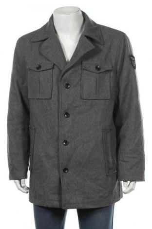 Мъжко палто Livergy, Размер XL, Цвят Сив, 50% вълна, 50% полиестер, Цена 16,28лв.