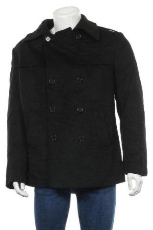 Мъжко палто Sand, Размер L, Цвят Черен, 90% вълна, 10% кашмир, Цена 27,56лв.