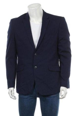 Мъжко сако, Размер L, Цвят Син, 68% полиестер, 30% вискоза, 2% еластан, Цена 9,45лв.