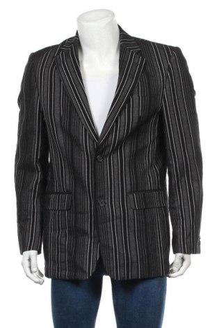 Мъжко сако, Размер L, Цвят Черен, 79% памук, 14% лен, 7% полиестер, Цена 5,08лв.