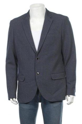 Sacou de bărbați Angelo Litrico, Mărime XL, Culoare Albastru, 64% poliester, 35% viscoză, 1% elastan, Preț 21,55 Lei