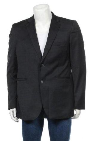 Мъжко сако Dressmann, Размер XL, Цвят Син, 50% вълна, 48% полиестер, 2% еластан, Цена 8,40лв.