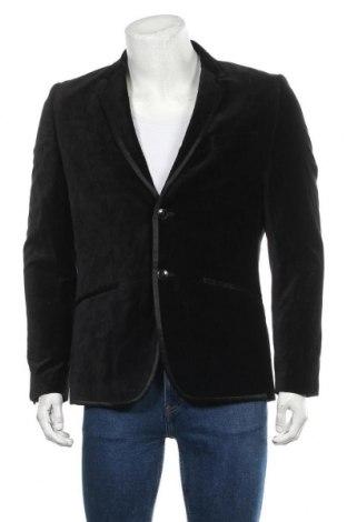 Мъжко сако H&M, Размер L, Цвят Черен, 80% памук, 20% вискоза, Цена 8,82лв.
