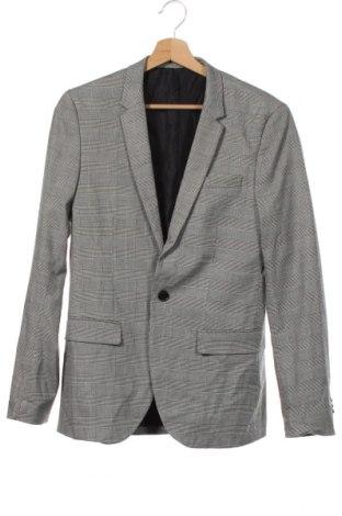 Мъжко сако H&M, Размер S, Цвят Сив, 66% полиестер, 32% вискоза, 2% еластан, Цена 6,83лв.