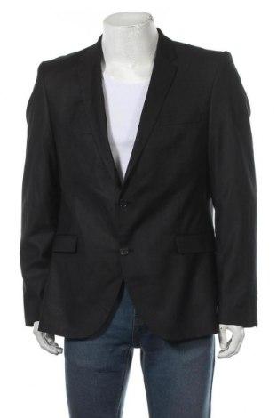 Мъжко сако Selected Homme, Размер XL, Цвят Черен, 63% полиестер, 34% вискоза, 3% еластан, Цена 7,35лв.