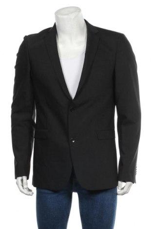 Мъжко сако Strellson, Размер L, Цвят Черен, 53% полиестер, 43% вълна, 4% еластан, Цена 16,28лв.