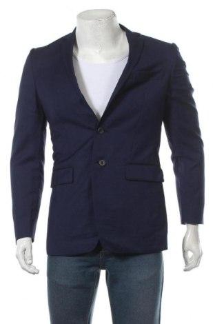 Мъжко сако Van Heusen, Размер S, Цвят Син, 97% вълна, 3% полиестер, Цена 19,85лв.