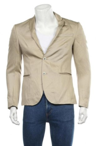 Мъжко сако Zara Man, Размер S, Цвят Бежов, Полиестер, Цена 38,59лв.