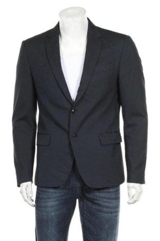 Мъжко сако Zara Man, Размер L, Цвят Син, Полиестер, Цена 38,85лв.