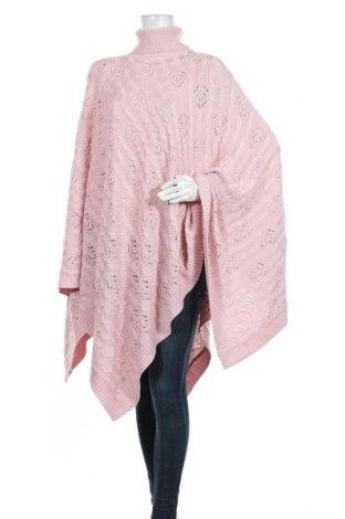 Пончо Susan Graver, Размер M, Цвят Розов, 55% акрил, 45% памук, Цена 54,81лв.