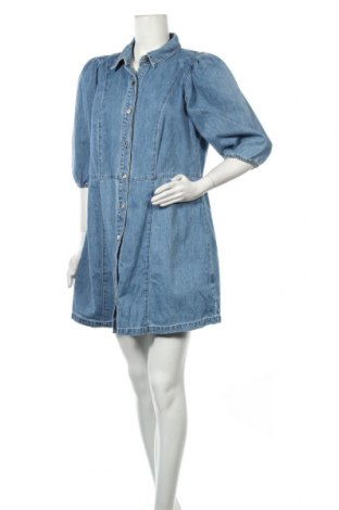 Rochie H&M, Mărime XL, Culoare Albastru, 97% bumbac, 3% alte țesuturi, Preț 148,54 Lei