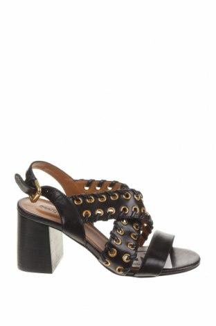 Sandale See By Chloe, Mărime 37, Culoare Negru, Piele naturală, Preț 440,79 Lei