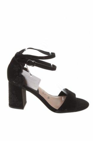 Sandale Tamaris, Mărime 40, Culoare Negru, Velur natural, Preț 100,39 Lei