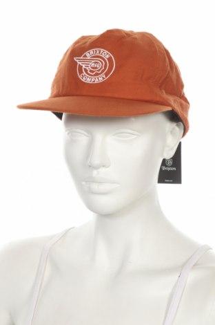 Шапка Brixton, Цвят Оранжев, Памук, Цена 10,92лв.