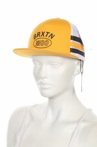 Шапка Brixton, Цвят Жълт, 60% памук, 40% полиестер, Цена 7,02лв.