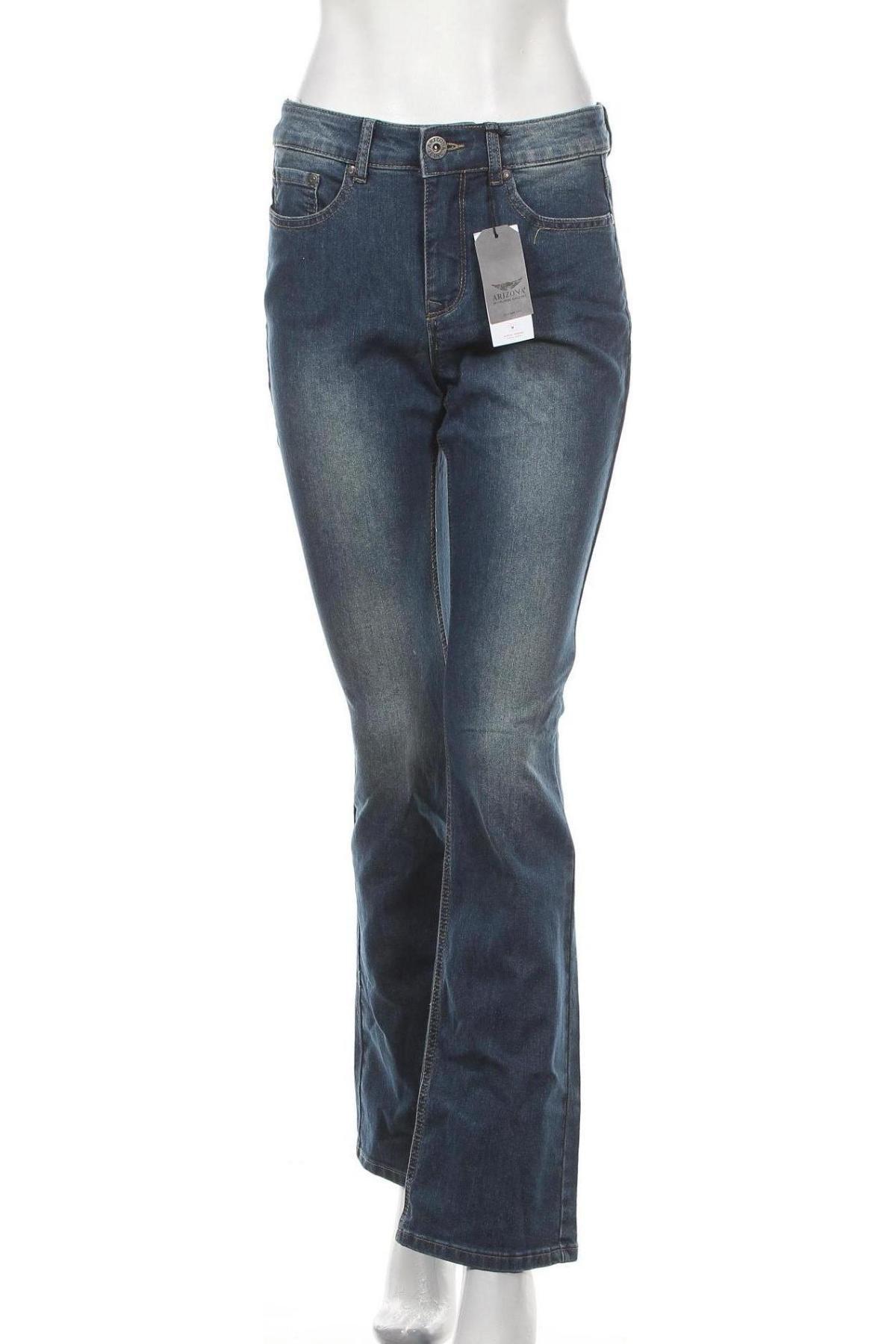 Дамски дънки Arizona, Размер M, Цвят Син, 79% памук, 19% полиестер, 2% еластан, Цена 31,74лв.