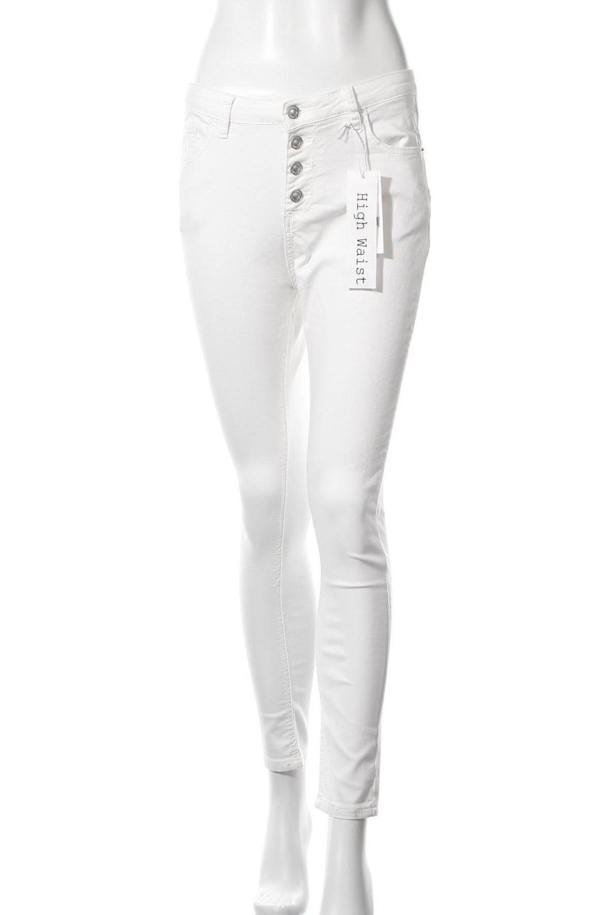 Дамски дънки Haily`s, Размер L, Цвят Бял, 65% памук, 33% полиестер, 2% еластан, Цена 36,75лв.