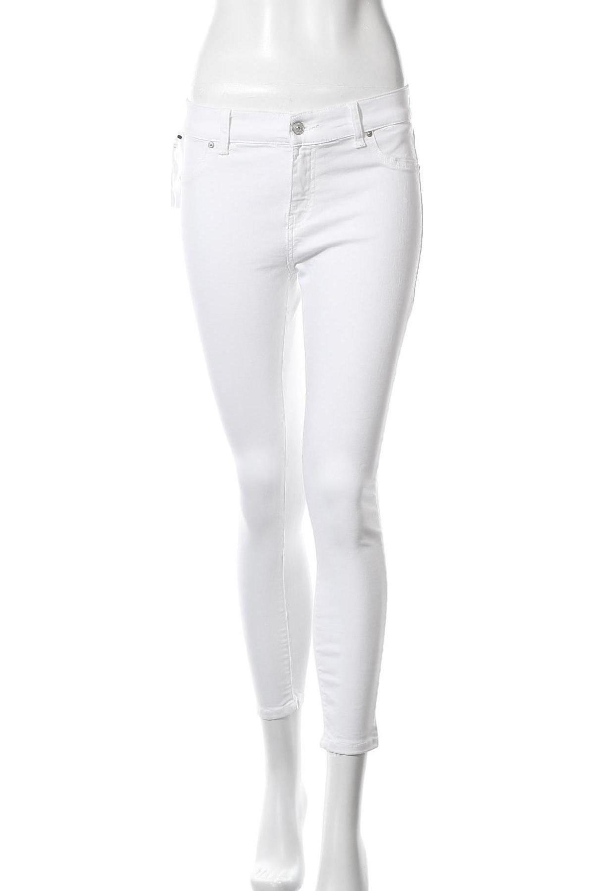 Дамски дънки Ltb, Размер M, Цвят Бял, 98% памук, 2% еластан, Цена 26,22лв.