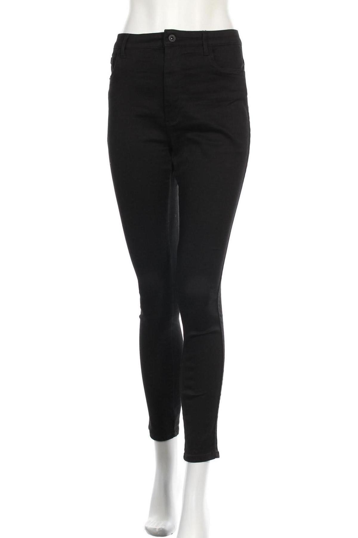 Дамски дънки ONLY, Размер L, Цвят Черен, 29% полиестер, 2% еластан, 69% памук, Цена 42,00лв.