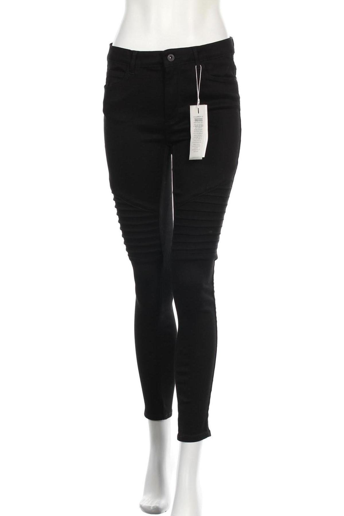 Дамски дънки ONLY, Размер M, Цвят Черен, 29% полиестер, 2% еластан, 69% памук, Цена 51,75лв.