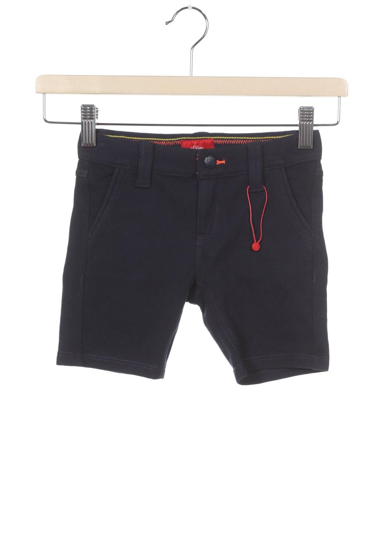 Детски къс панталон S.Oliver, Размер 18-24m/ 86-98 см, Цвят Син, 80% памук, 20% полиестер, Цена 34,50лв.