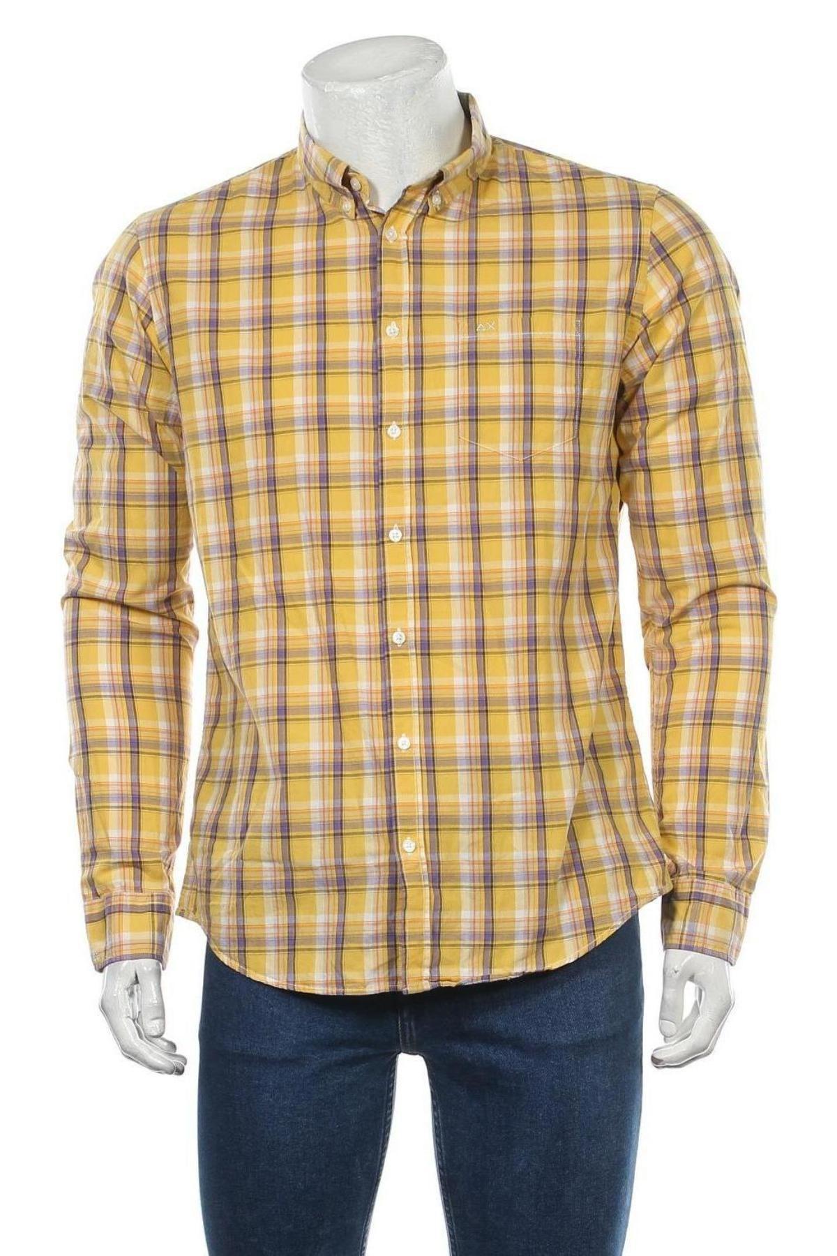 Мъжка риза SUN68, Размер L, Цвят Многоцветен, Памук, Цена 43,50лв.