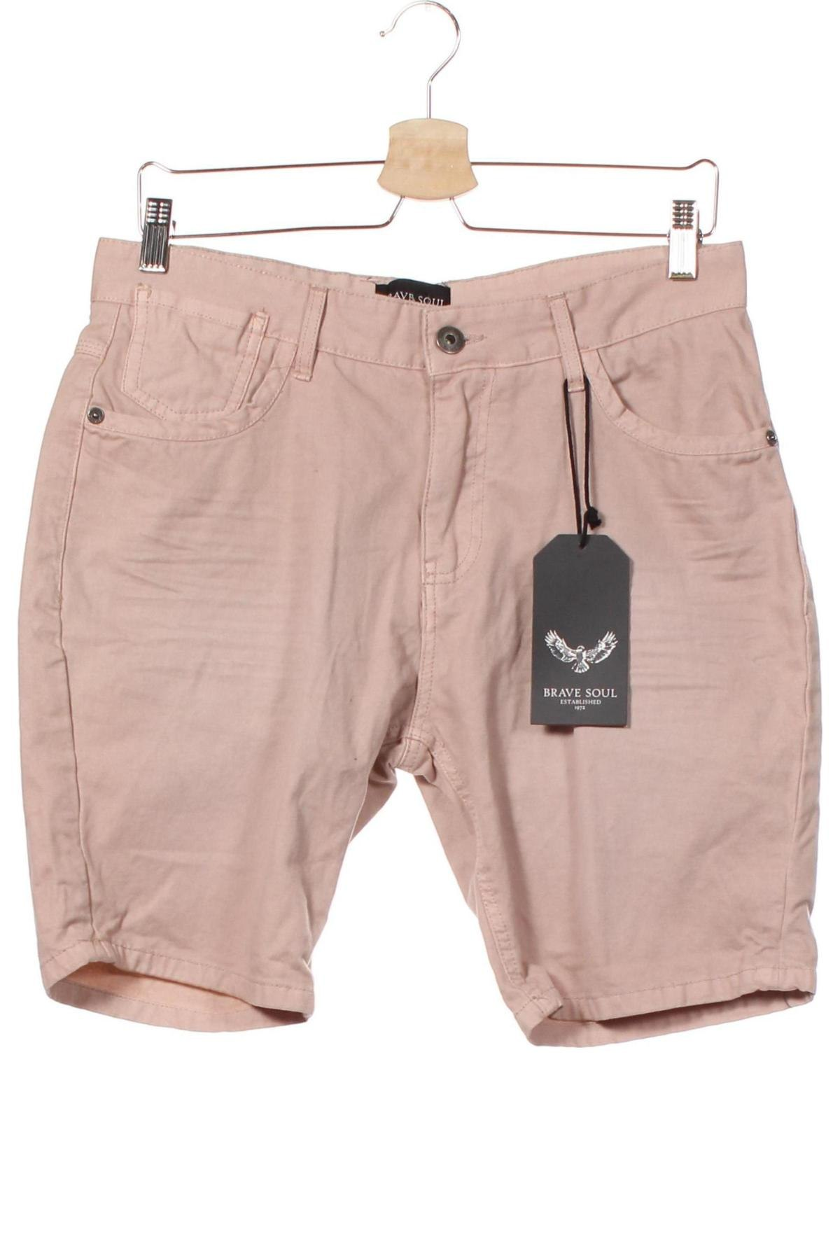 Мъжки къс панталон Brave Soul, Размер S, Цвят Розов, Памук, Цена 15,29лв.