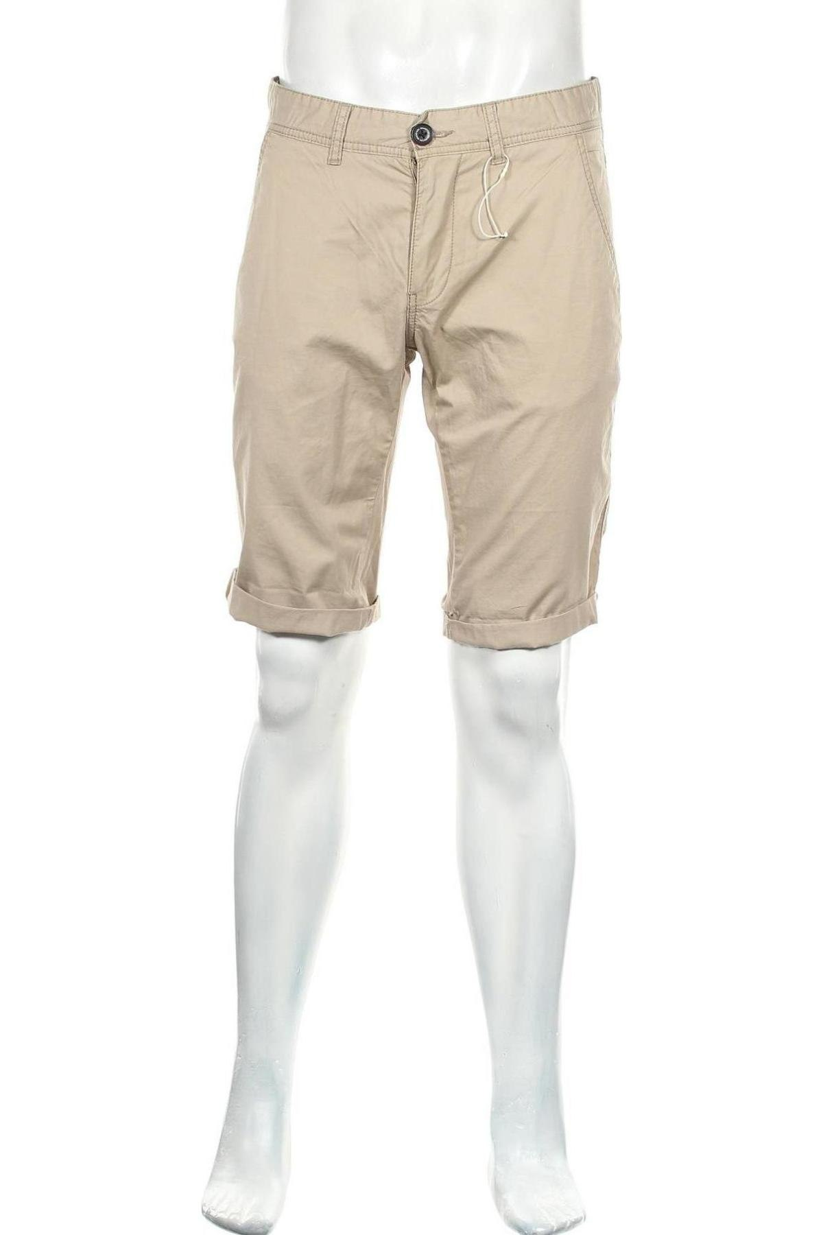Мъжки къс панталон Edc By Esprit, Размер M, Цвят Бежов, Памук, Цена 24,30лв.