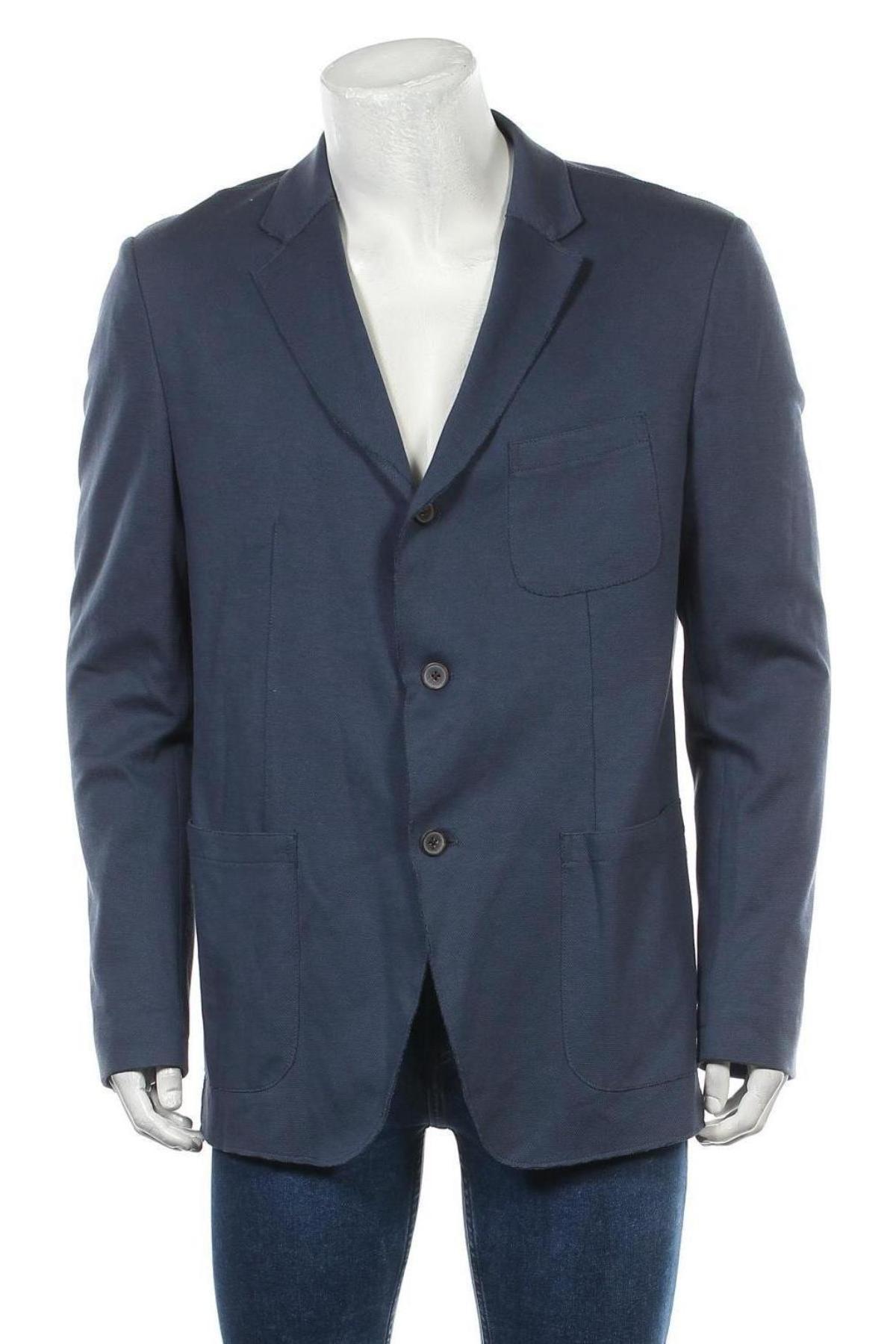 Мъжко сако Otto Kern, Размер XL, Цвят Син, 60% памук, 40% полиамид, Цена 33,67лв.